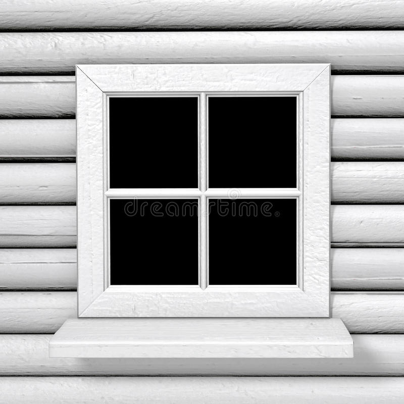 Square white country style window stock illustration for Square window design
