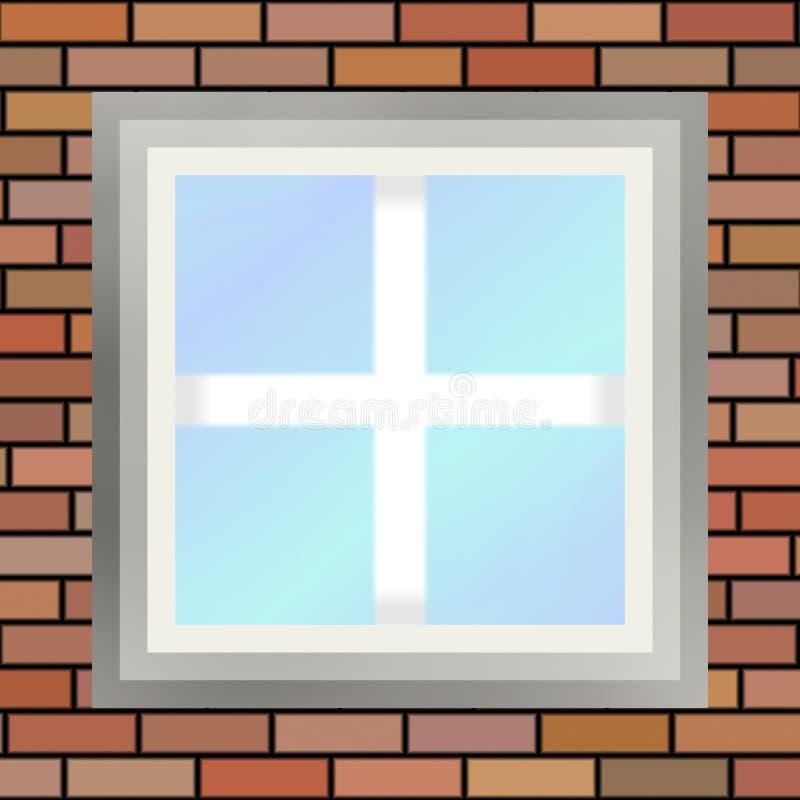 Download Square window stock illustration. Image of brick, house - 16596469