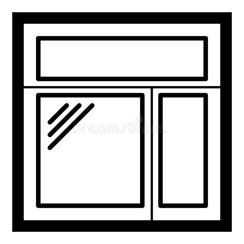 Square Window Frame Icon, Simple Black Style Stock Vector ...