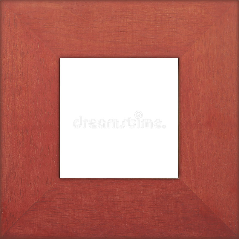 Square Wooden Photo Frame royalty free stock photos