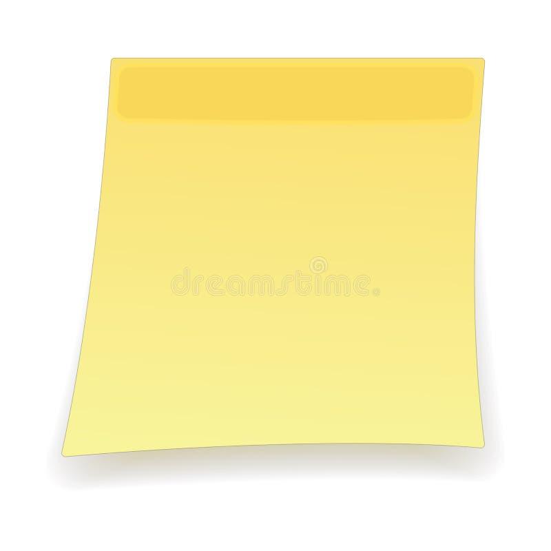 Square yellow sticker cartoon icon stock illustration