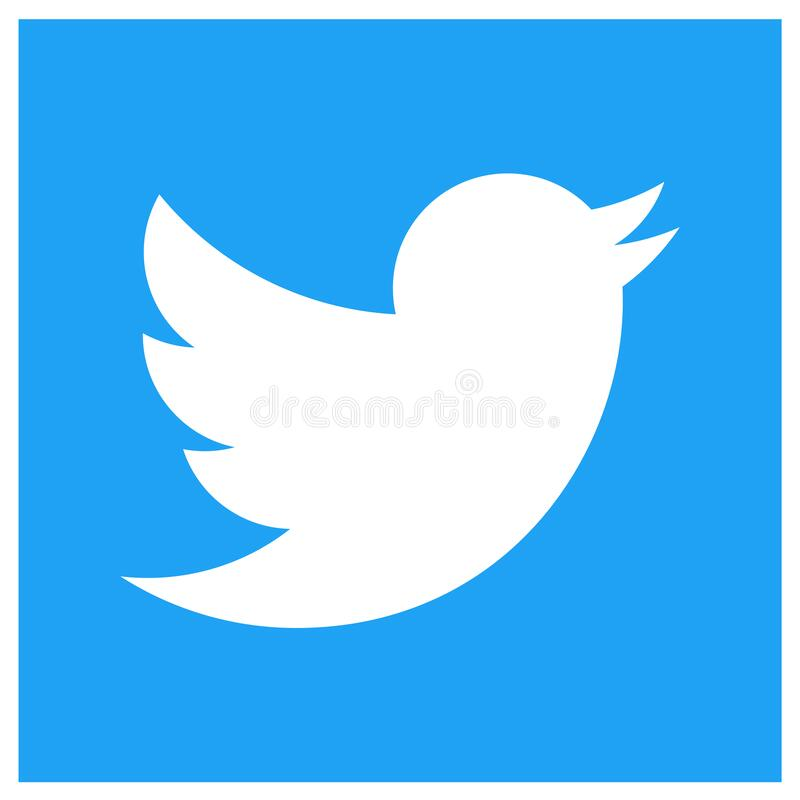 Free Squared Colored Sharp Edged Twitter Logo Icon Stock Photography - 184356052