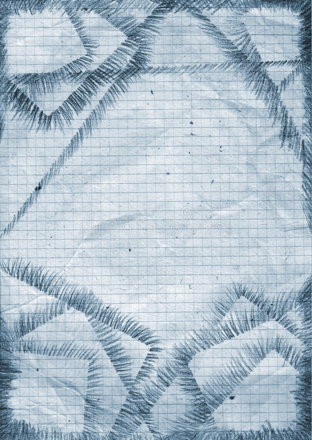 Squared grunge paper stock illustration