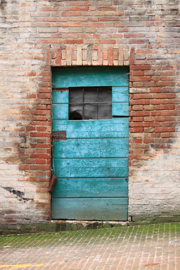 Squared medieval front door royalty free stock photos