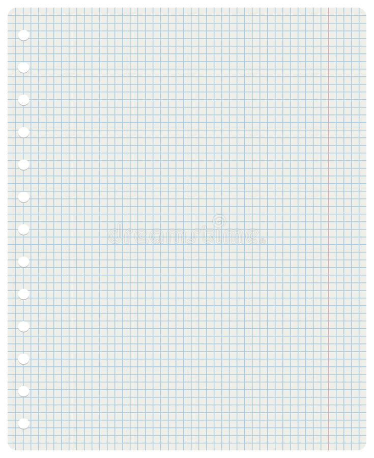 Squared notebook sheet royalty free stock images