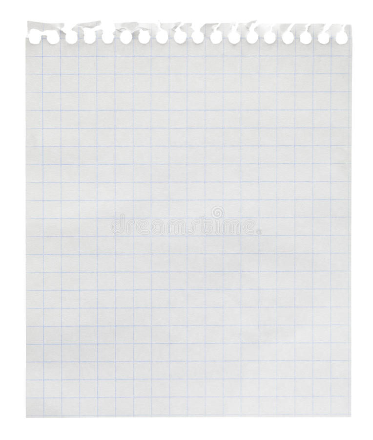 Squared Paper Loose-leaf Note Sheet Stock Photography