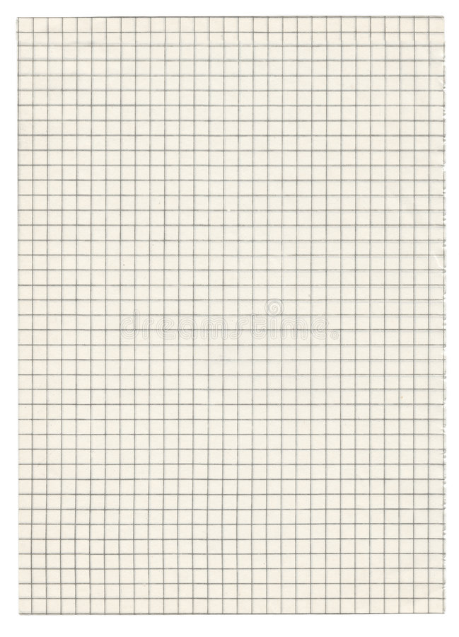 Squared paper on whit royalty free stock photo