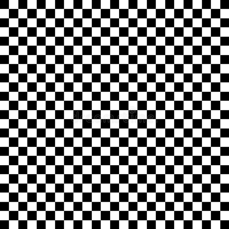 Black and White Check Pattern stock illustration