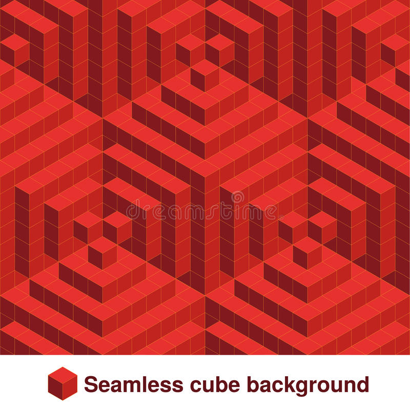 Free Squared Pattern. Seamless Geometric Texture In Red Color. Effect Stylish Tiles. 3d Abstract Dynamic Background Created Of Cubes. Stock Photos - 77653033
