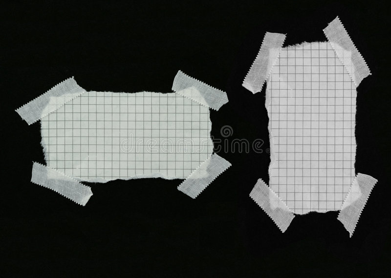 Squared strip of paper with white plaster pieces #2 royalty free stock images