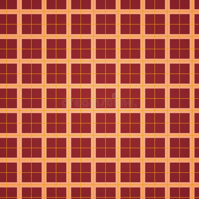 Squares background - red / orange vector illustration