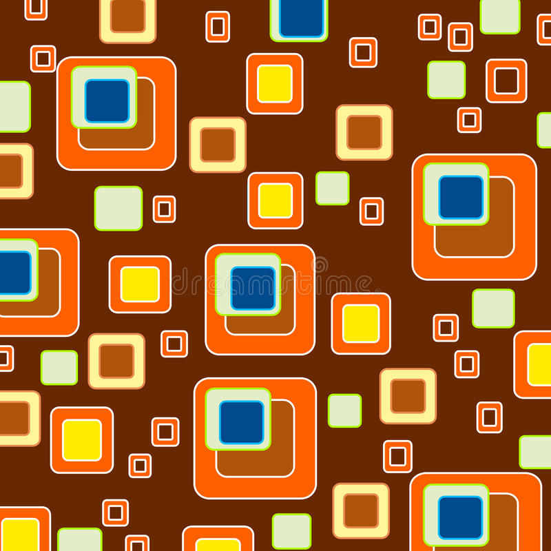 Squares background/ retro style wallpaper. Squares pattern background with a retro style look royalty free illustration