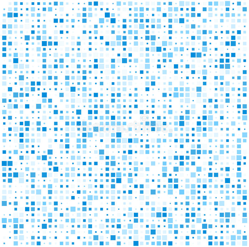 Squares blue technology pattern vector illustration