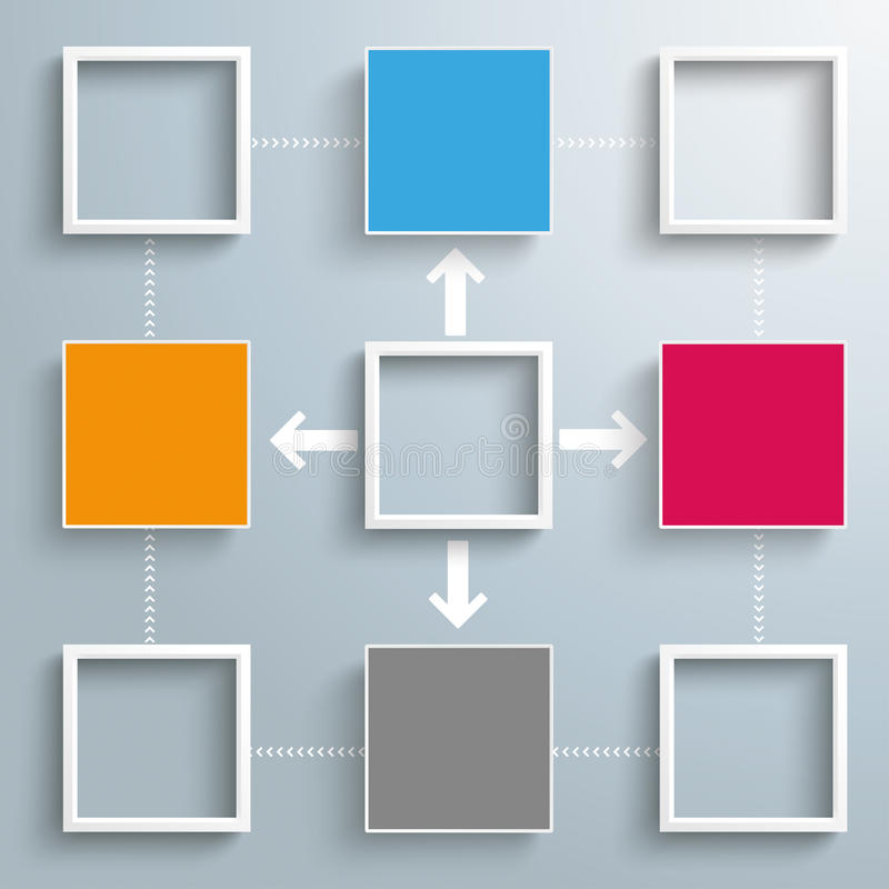 Free Squares Frames Outsourcing Cycle Royalty Free Stock Image - 53702546