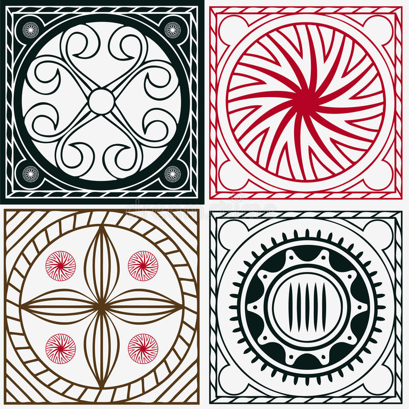 Download Squares With Indian Ornaments Stock Vector - Image: 29067494