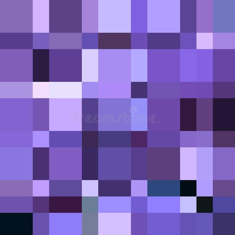Squares in many different purple hue, squares and rectangles geometric pattern. Squares mamy many different purple hue rectangles geometric pattern violet lilac royalty free illustration