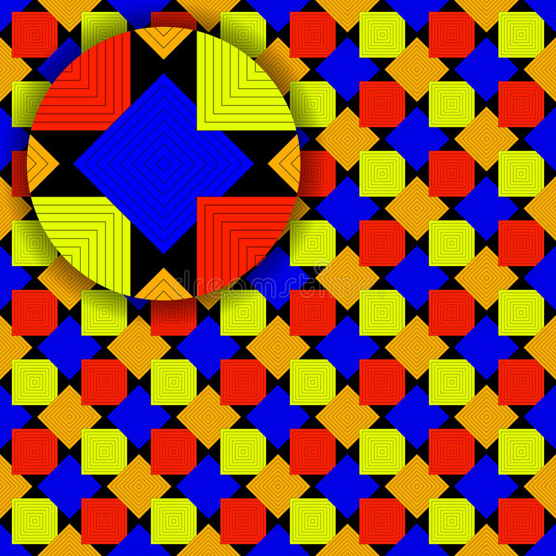 Download Squares Pattern With Detail Royalty Free Stock Photography - Image: 19181497