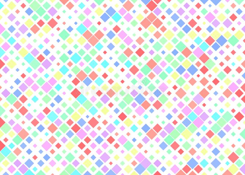 Colorful Squares with Halftone Effect for Geometric Pattern Background royalty free illustration