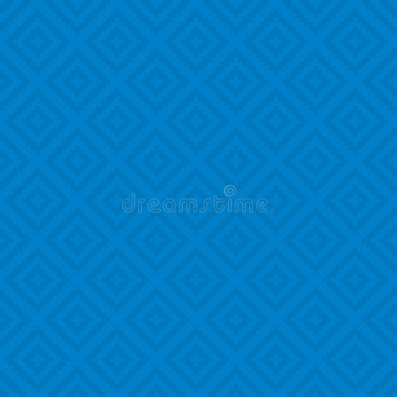 Squares Pixel Art Seamless Pattern. Blue Squares Pixel Art Pattern. Checked Neutral Seamless Pattern for Modern Design in Flat Style. Tileable Geometric Vector vector illustration