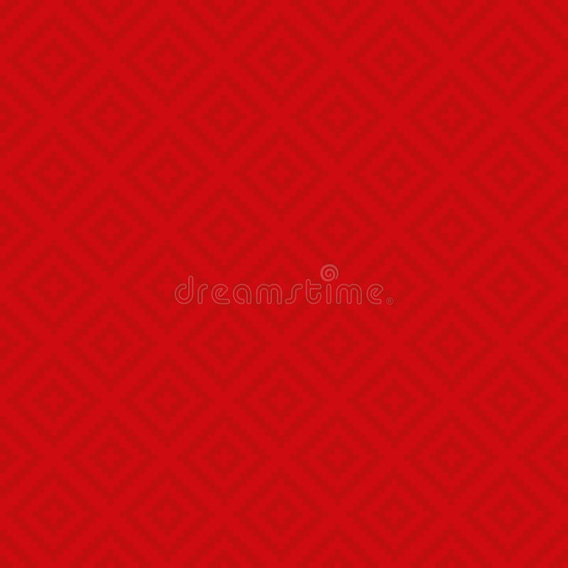 Squares Pixel Art Seamless Pattern. Red Squares Pixel Art Pattern. Checked Neutral Seamless Pattern for Modern Design in Flat Style. Tileable Geometric Vector stock illustration