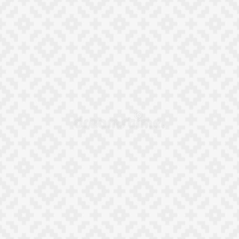 Squares Pixel Art Seamless Pattern. White Squares Pixel Art Pattern. Checked White Neutral Seamless Pattern for Modern Design in Flat Style. Tileable Geometric stock illustration