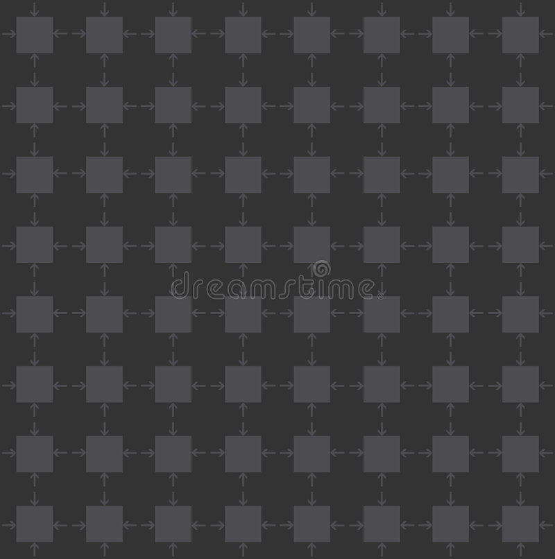 Squares with pointing arrows