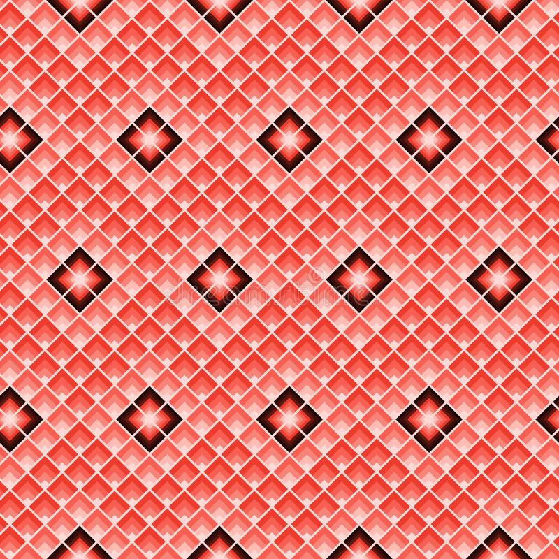 Squares repeat. Geometric seamless pattern. Rectangles tile background.  stock illustration