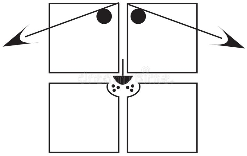Squares - Sad Dog Stock Image