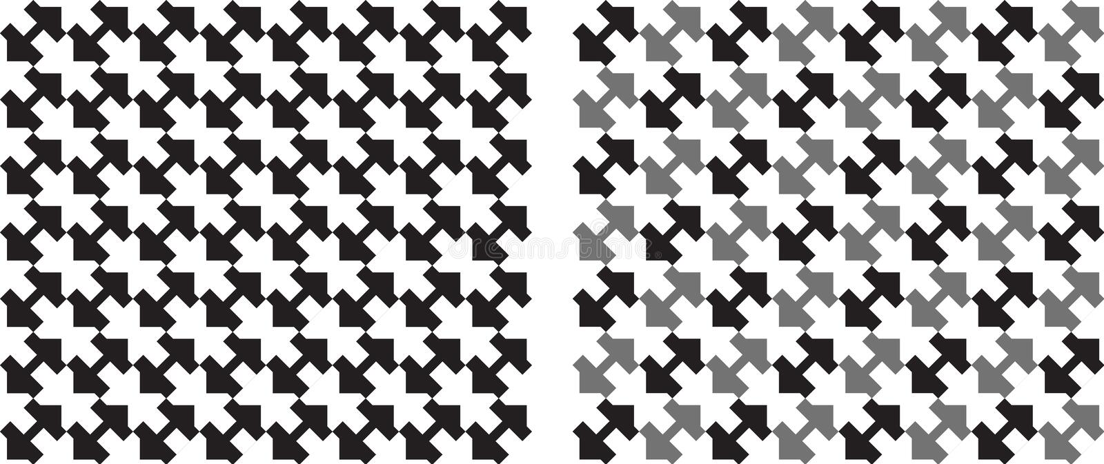Squares seamlessly repeatable pattern in black and white. Vector vector illustration