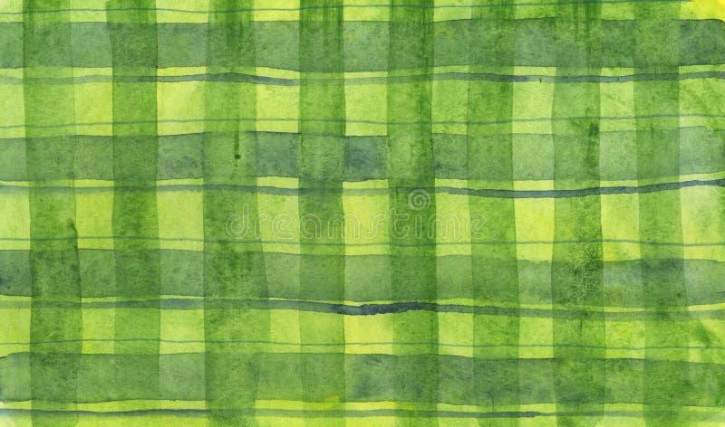 squares vattenfärg stock illustrationer
