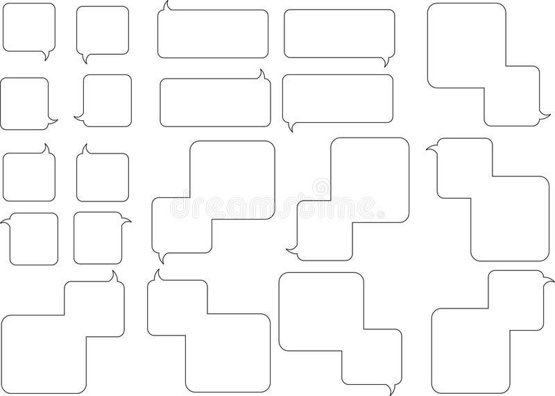 Squarespeechbubbles stock de ilustración