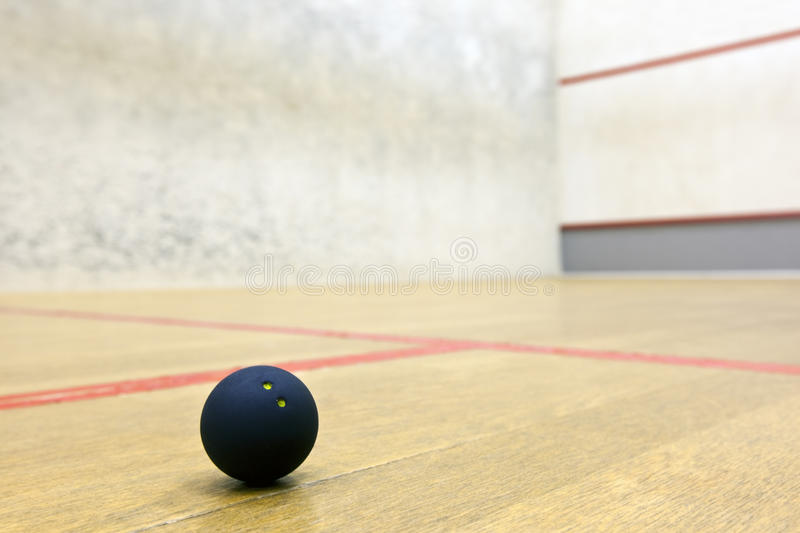 Download Squash ball in sport court stock image. Image of leisure - 20279771