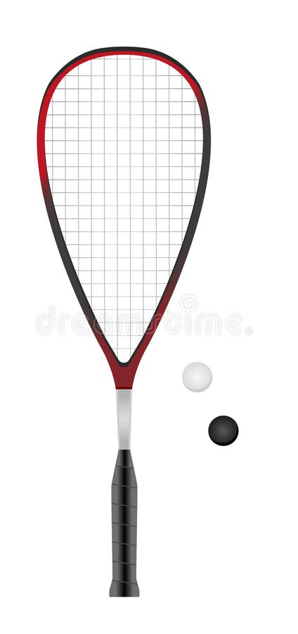 Free Squash Or Racketball Racket And Two Balls Royalty Free Stock Photos - 105629778