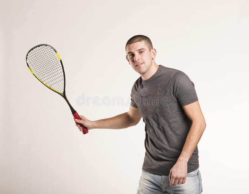 Squash player stock photography