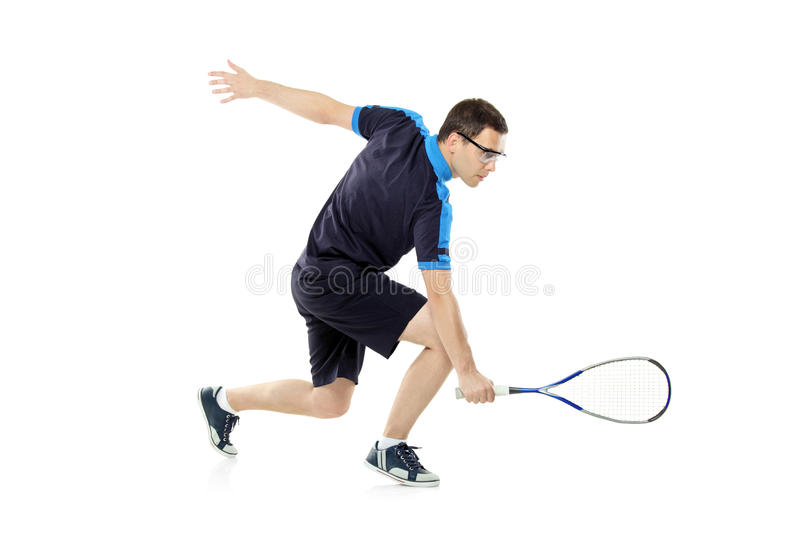 A squash player playing stock images