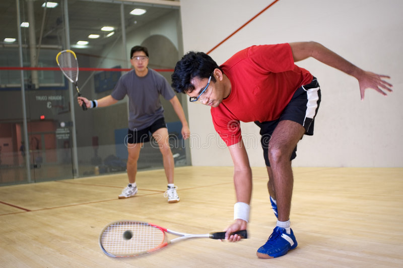 Download Squash players stock image. Image of ball, court, racquet - 1397719