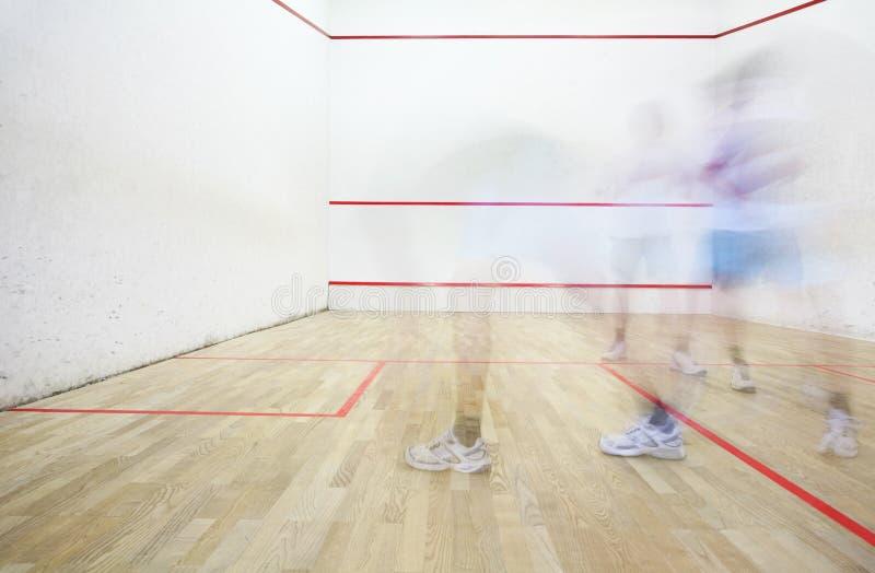 Squash playing royalty free stock photos