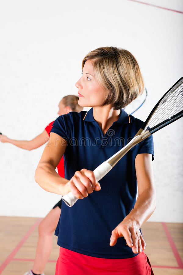 Download Squash Racket Sport In Gym, Women Competition Stock Photo - Image: 23807126