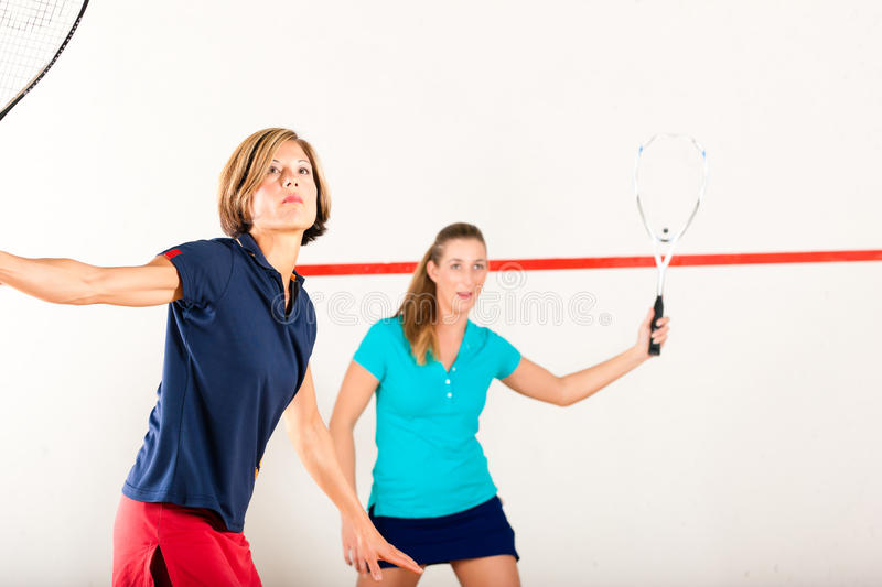 Download Squash Racket Sport In Gym, Women Competition Stock Image - Image: 24768627