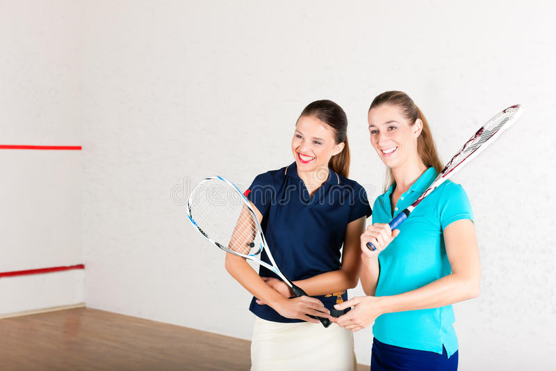 Download Squash Racket Sport In Gym, Women Training Stock Photography - Image: 25271352