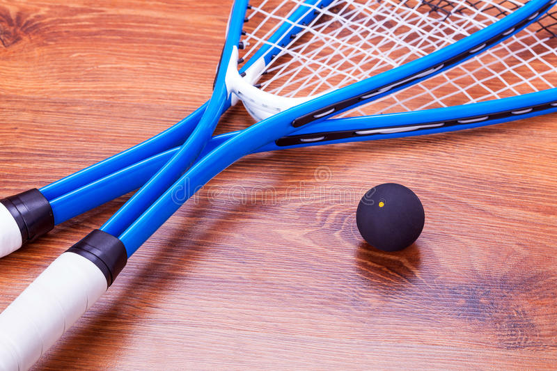 Squash Rackets And Ball Royalty Free Stock Images
