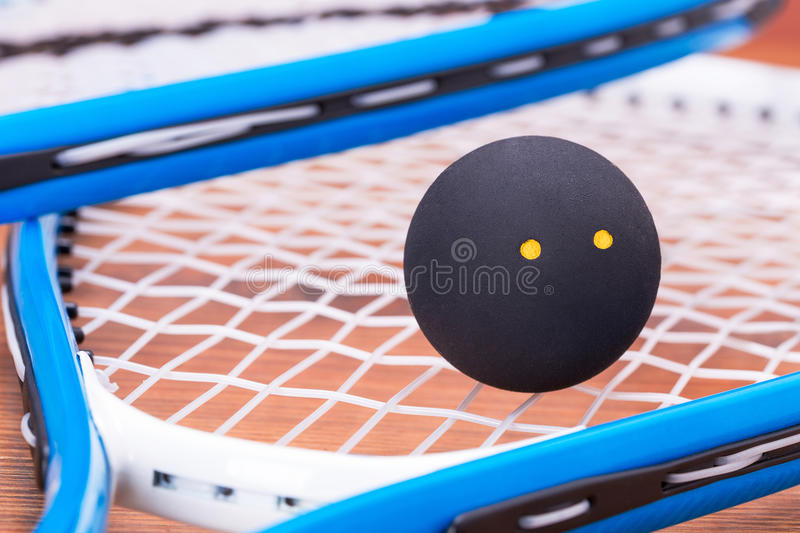 Download Squash rackets and ball stock photo. Image of equipment - 37929808