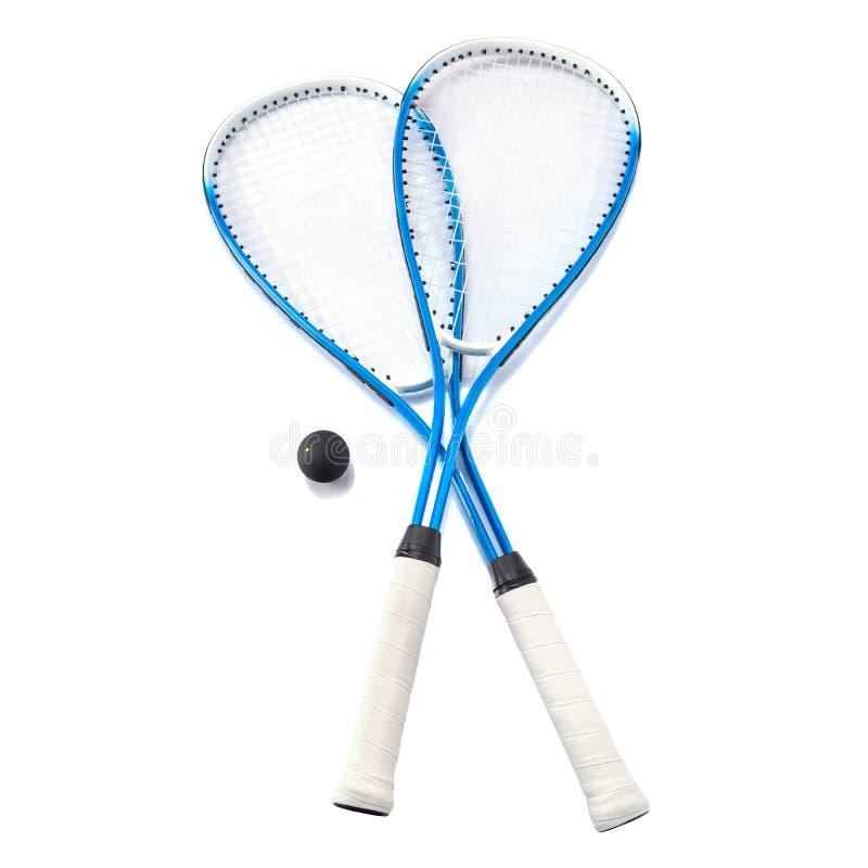 Squash rackets over white