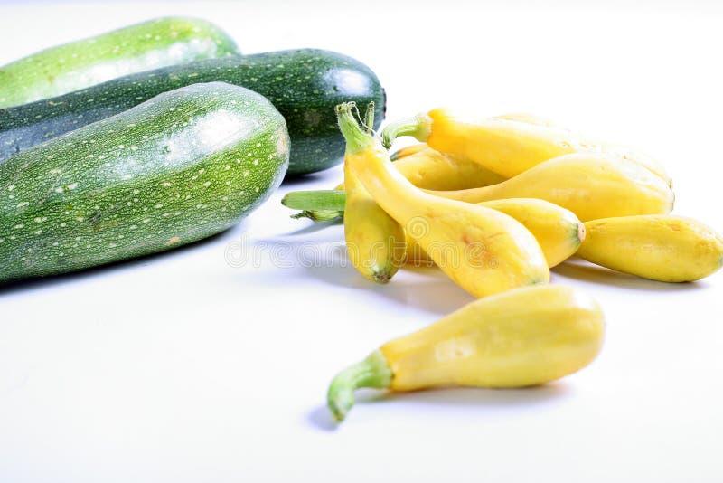Squash & zucchini on white