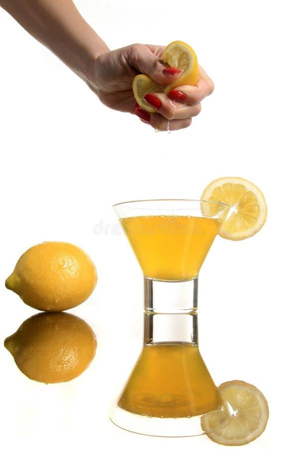 Squashing o limão imagem de stock