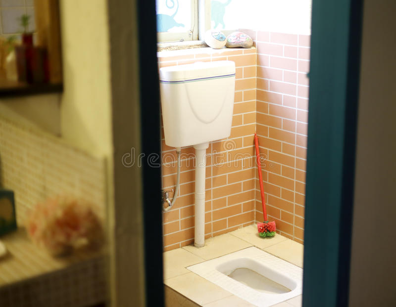 Squat toilet. In the apartment stock photography