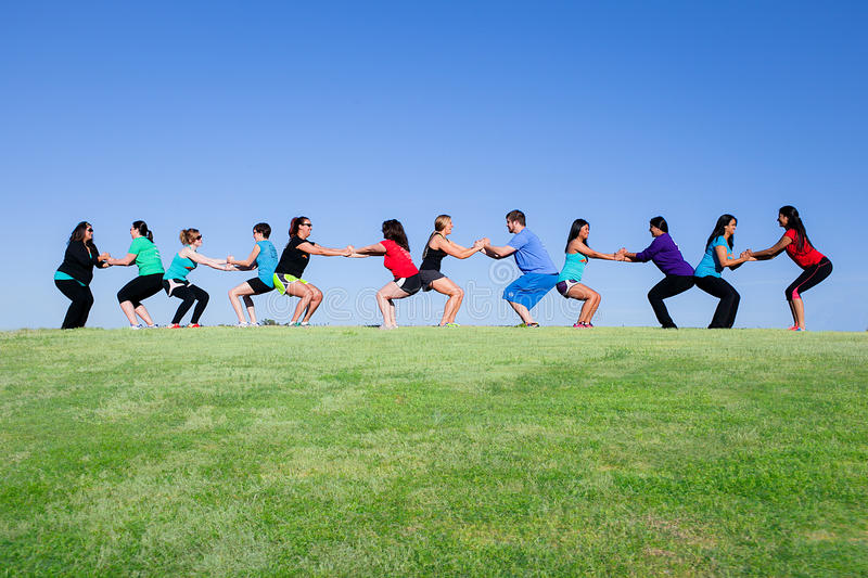Exercise on a beautiful day royalty free stock image