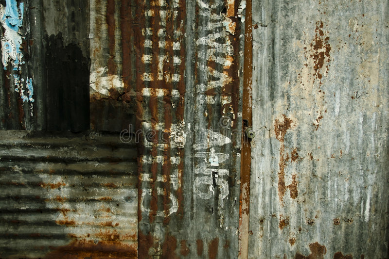 Squatter town urban decay background philippines stock images