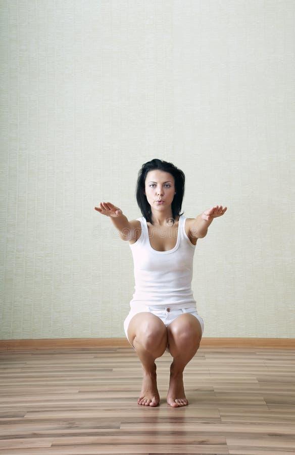 squatting arkivbild