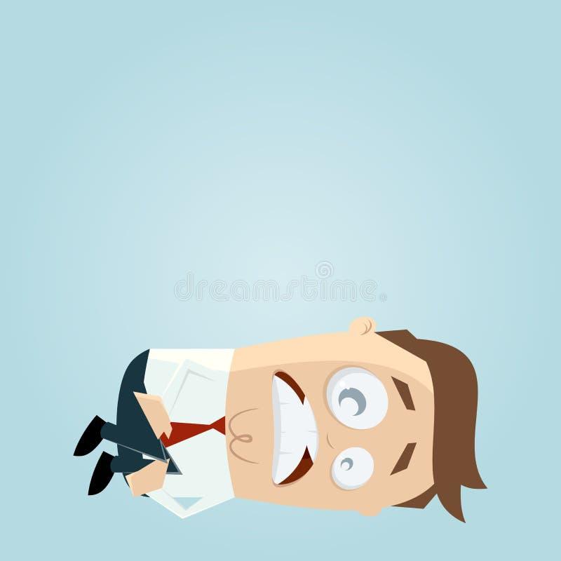 Download Squatting cartoon man stock illustration. Image of cute - 32003518